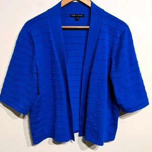Cable & Gauge |Blue ribbed Cardigan